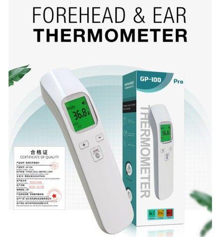 Termômetro infra vermelho GP-100 display LCD 3 cores auto OFF, preciso e rápido - Foto 4