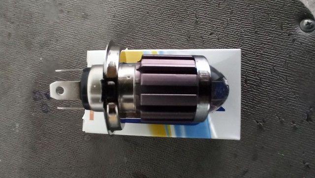 Led com linha de corte moto modelo h4 10mil lumens 6000k branco - Foto 4