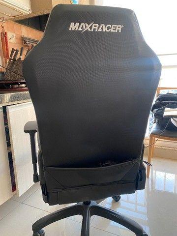 Cadeira Gamer MaxRacer Bunker Massagem SMI Regen Preta - Foto 6