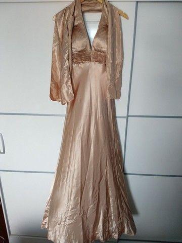 Vestido Longo Festa Dourado  - Foto 2