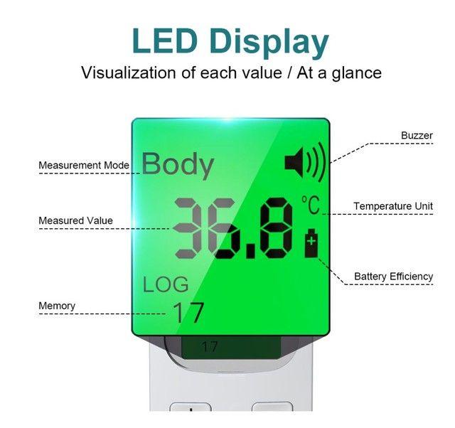 Termômetro infra vermelho GP-100 display LCD 3 cores auto OFF, preciso e rápido