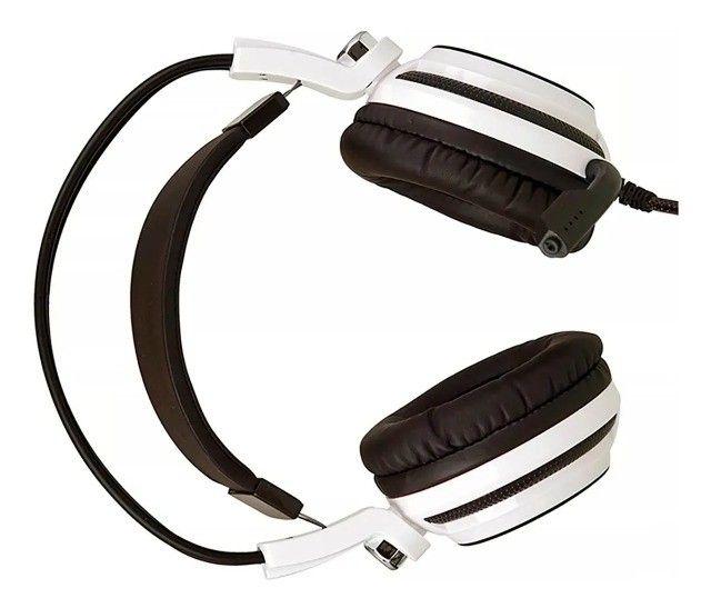 Headset Gamer 7.1 Pc Led Com Microfone Kp-400 - Loja Natan Abreu  - Foto 3