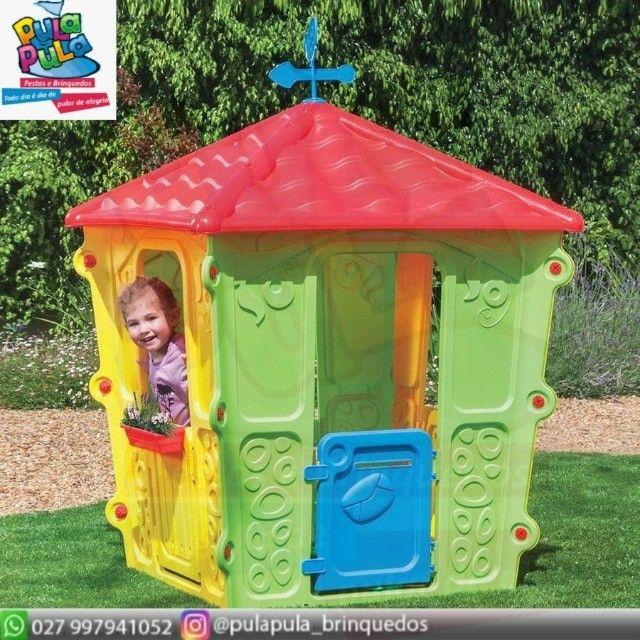 Novidade!! Casinhas Infantis coloridas para sua área Kids e diversão infantil - Foto 6