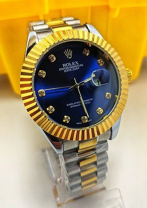 Rolex DateJust Misto/Azul ul linha Gold c/ caixa premium rolex (1ª Linha) - Foto 4