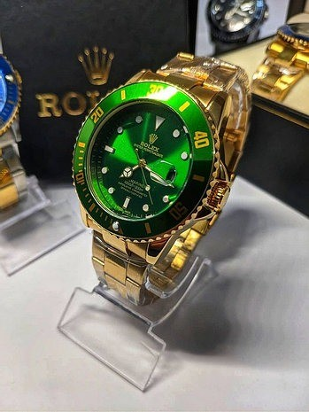 Rolex Submariner Verde linha Gold (1ª Linha) - Foto 4