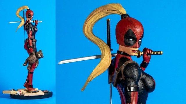 Estatua De Resina Marvel Diamond Select Lady Deadpool X-men ñ sideshow iron studios