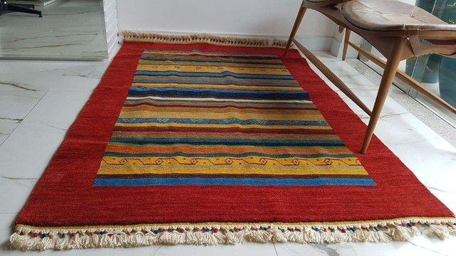 tapete importado Turquia original com certificado novo sem uso - Foto 4