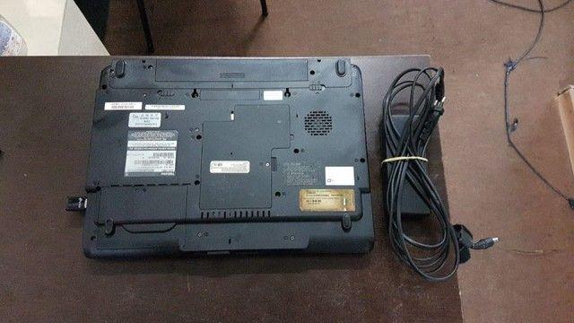 Notebook toshiba a105 Intel T1300 1.6 ghz--4 RAM-ssd120gb tela 15.4  W10 - Foto 3