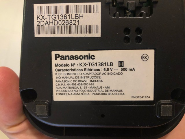 Telefone sem fio Panasonic modelo KXTG138 - Foto 3