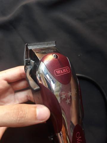 942b335e7 Kit Barbeiro Máquinas Whal Magic Clip + Andis Slimline + 2 Tesouras  Stancanelli e Mais