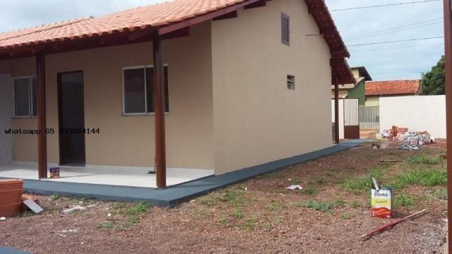 Casa para venda em várzea grande, novo mundo, 2 dormitórios, 1 banheiro, 4 vagas - Foto 3