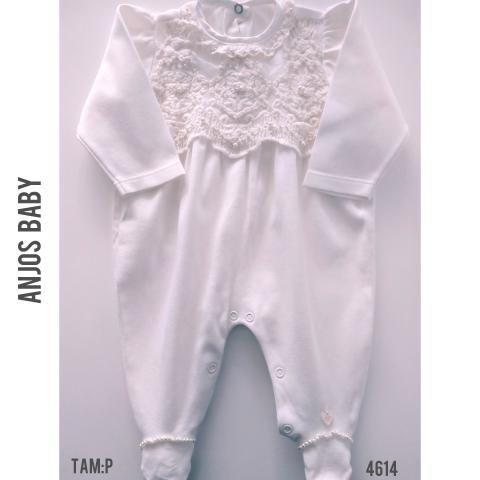 Macacão luxo Anjos Baby, 100% algodão egípcio