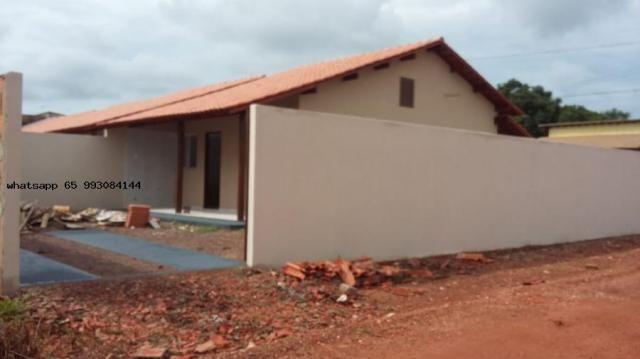 Casa para venda em várzea grande, novo mundo, 2 dormitórios, 1 banheiro, 4 vagas - Foto 10