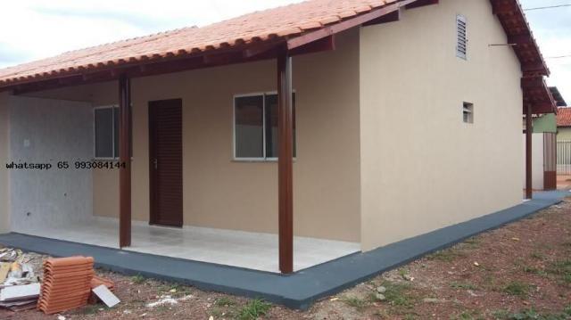 Casa para venda em várzea grande, novo mundo, 2 dormitórios, 1 banheiro, 4 vagas - Foto 5