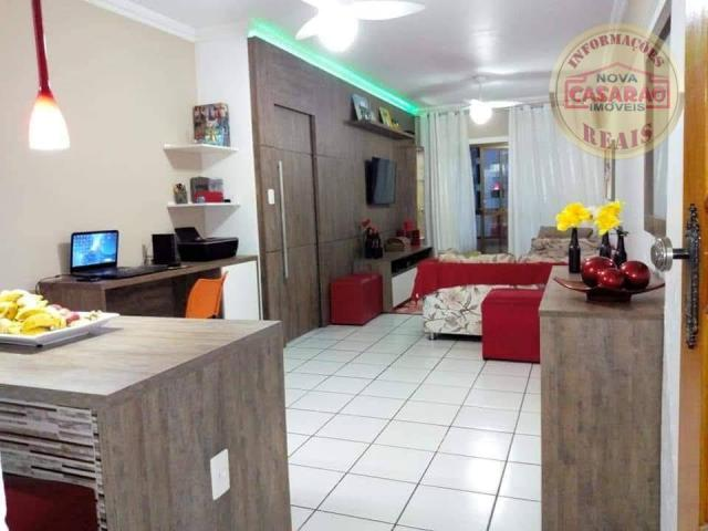 Apartamento com 2 dormitórios à venda, 89 m² por R$ 285.000 - Vila Tupi - Praia Grande/SP - Foto 2
