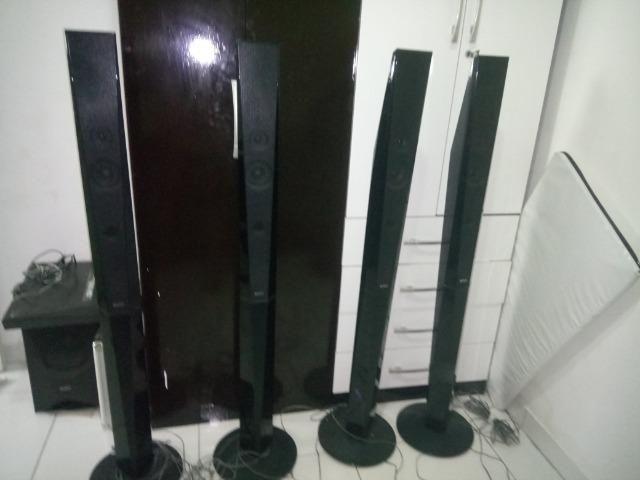 4Torres e 1 caixa central e o Subwoofer do home Theater sony Bdv-e6100 - Foto 4