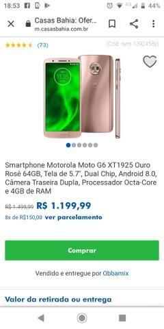 Vendo um celular moto G6 lançamento - Foto 4
