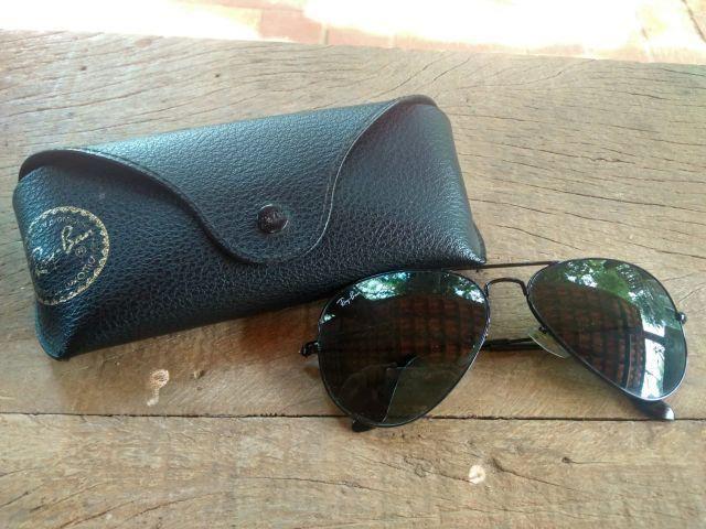 16745e1966fb5 Óculos de sol ray ban aviator masculino preto - Bijouterias ...