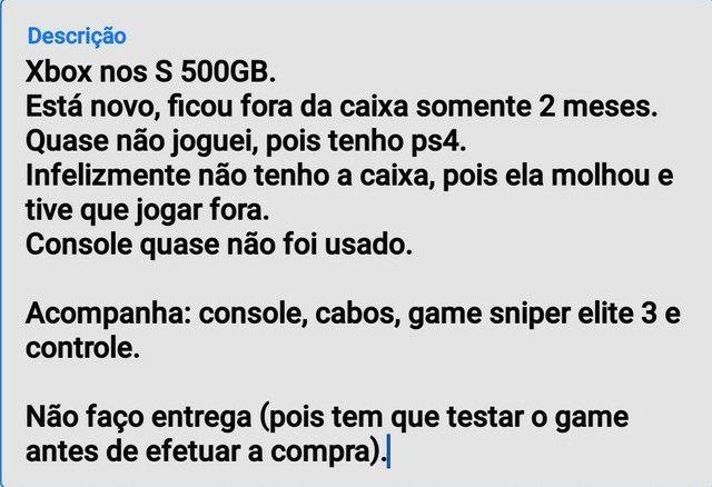 Xbox one S 500GB novo - Foto 4