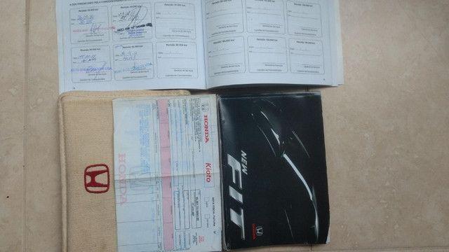Honda New Fit EX 1.5 16v automático - chave reserva e manual do proprietário - Foto 7