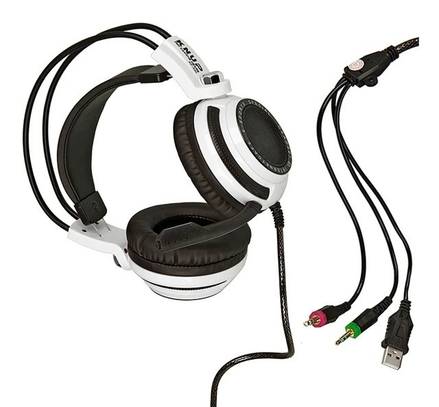 Headset Gamer 7.1 Pc Led Com Microfone Kp-400 - Loja Natan Abreu  - Foto 2