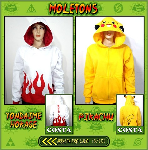 Moletons NerdDog Store - Naruto, Dragonball, Shingeki, Pokemon, Harry Potter, BTS - Foto 3
