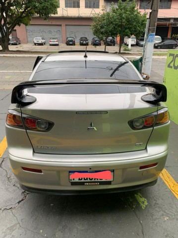 LANCER GT 2012/2012 TETO SOLAR CAMBIO BORBOLETA  - Foto 4