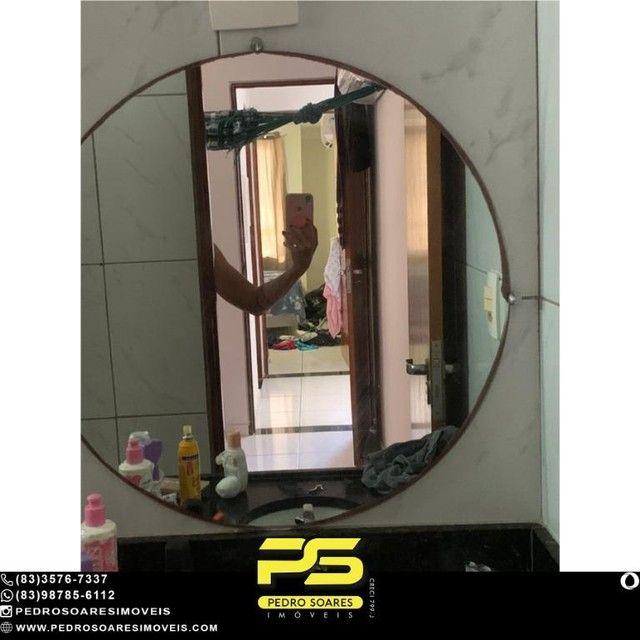 (MOBILIADO) Apartamento com 2 dormitórios à venda, 60 m² por R$ 360.000 - Tambaú - João Pe - Foto 11