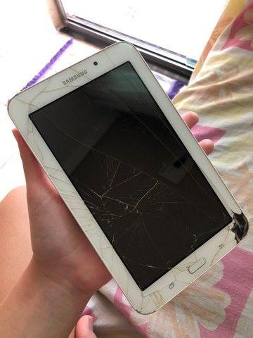 Tablet Samsung funcionando perfeitamente só a tela que está trincada - Foto 3