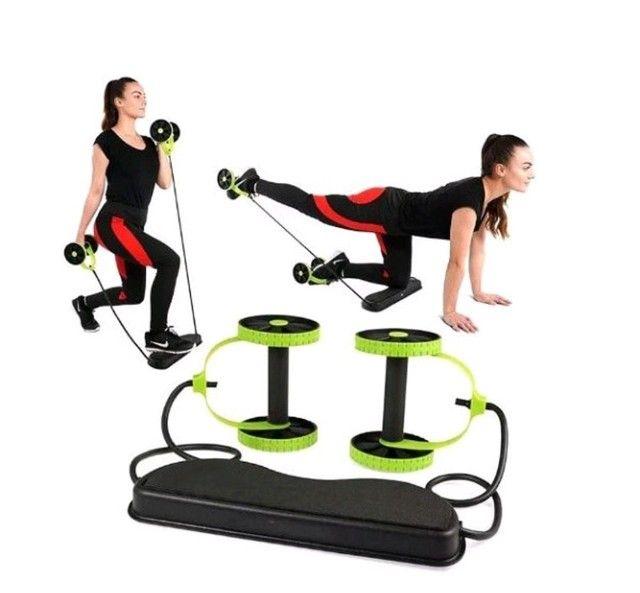 Kit de Treino com Rodas Multifuncionais Fitness  - Foto 2