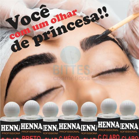 Sobrancelha Henna Castanho Claro 6 ml Bittes Cosméticos - Foto 5