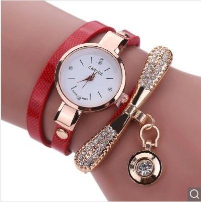 7f27d70e5 Relógio Feminino Pulseira Em Couro Retro Original - Bijouterias ...