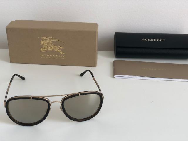 a28ad03c2 Óculos de Sol Burberry Piloto B 3090-Q Dark Brown - Original - Ótimo Estado