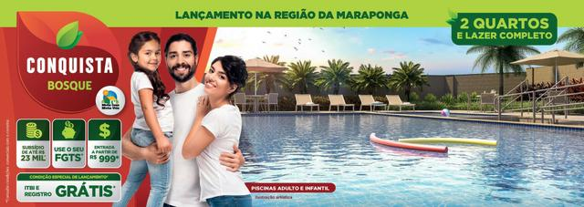 Apartamento com 2/4 e Lazer Completo na Região da Maraponga - ITBI + Registro Grátis
