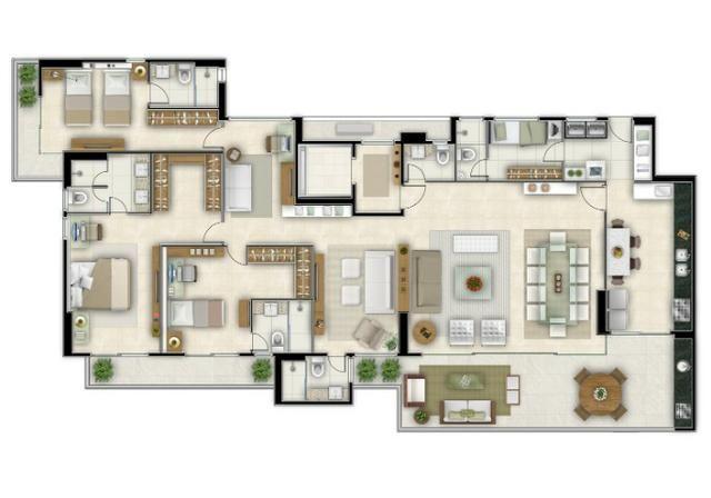 Campobelo, Apartamento no Cocó com 220mts, cozinha e varanda gourmet - Foto 2