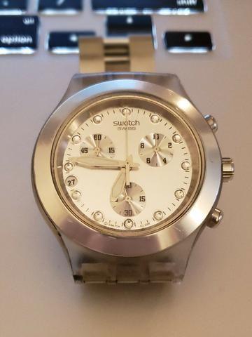 7ff0a30cec8 Relógio Swatch - Irony - Diaphane - Svck4038g - Feminino Prata ...