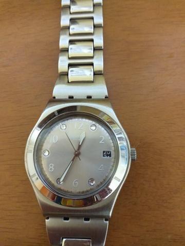 4113480fa9e Relógio Suíço Swatch Original Feminino em Aço Inoxidável e Resistente à água