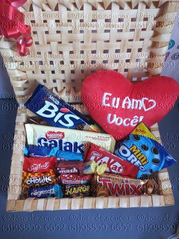 Cestas de chocolate e guloseimas - Foto 2