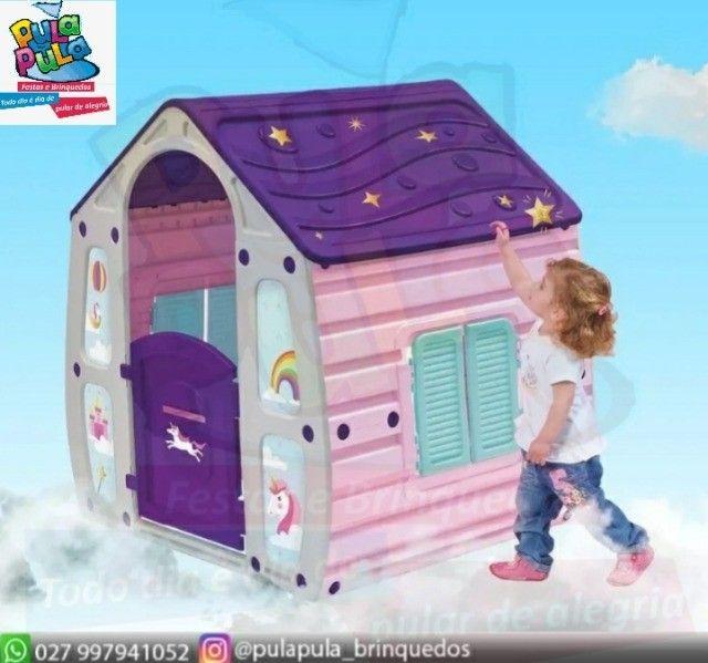 Novidade!! Casinha infantil Unicórnio Colorida - A pronta entrega