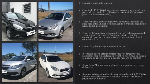 Promoção - Aluguel de Carros com GNV a partir de R$ 450,00 por semana