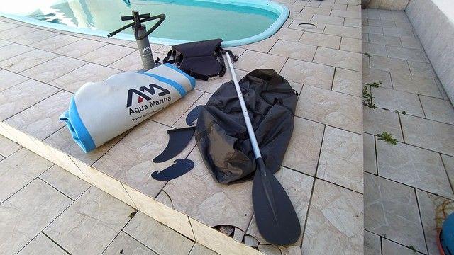 Stand Up inflável, Aqua Marina SPK-2, serve como caiaque.  - Foto 2