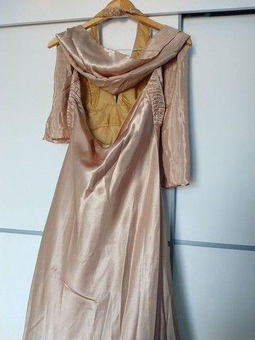 Vestido Longo Festa Dourado  - Foto 5