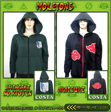 Moletons NerdDog Store - Kimetsu, Naruto, Resident Evil, Sailormoon, Panda, Totoro,  - Foto 5