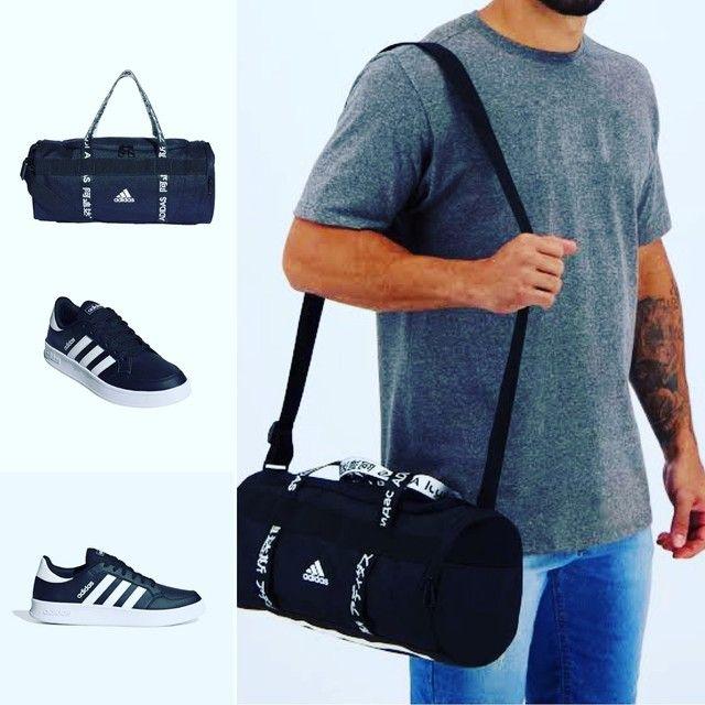 Combo Bolsa Adidas Duffel + Tênis Adidas Breaknet Pronta entrega