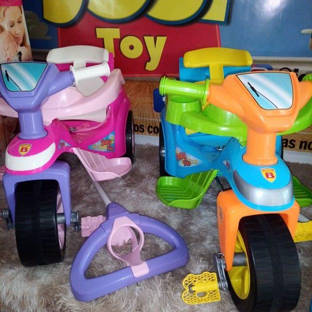 Triciclo clássico confortável e seguro ao passeio ao ar livre são os baby track - Foto 4