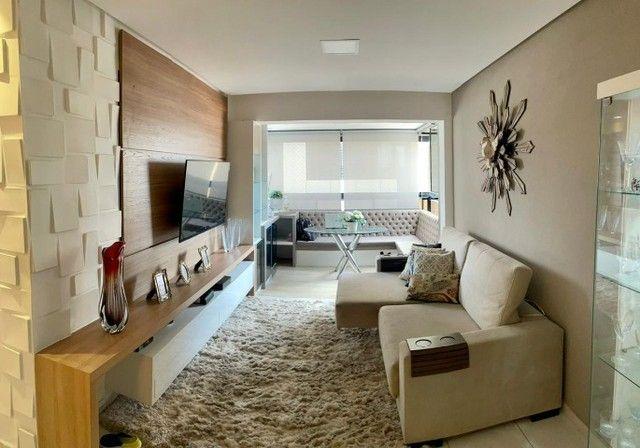 Apartamento na Jatiuca, 110m², 3/4-2 suites, varanda integrada