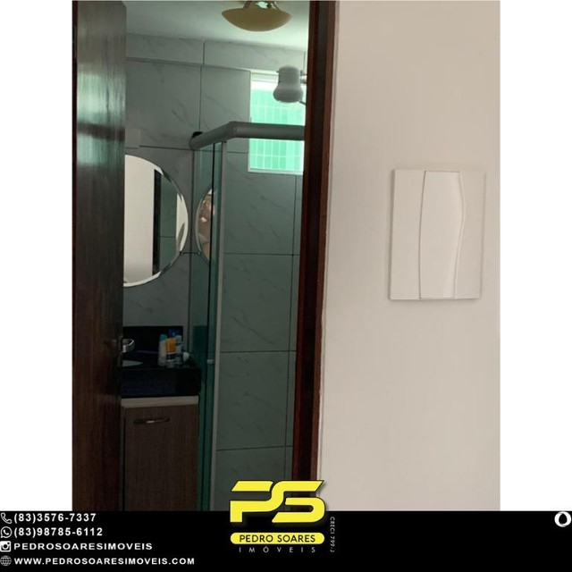 (MOBILIADO) Apartamento com 2 dormitórios à venda, 60 m² por R$ 360.000 - Tambaú - João Pe - Foto 7