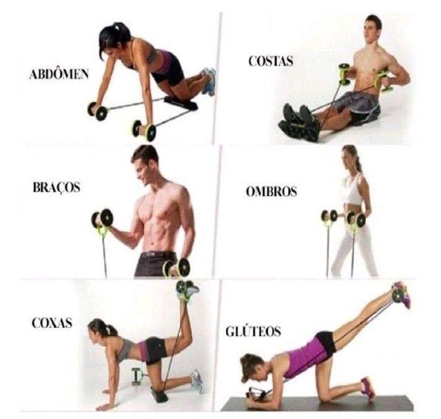 Kit de Treino com Rodas Multifuncionais Fitness  - Foto 3