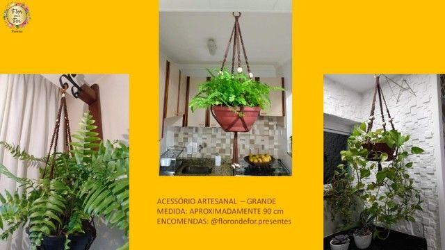 suporte artesanal decorativo para plantas e flores - Foto 3