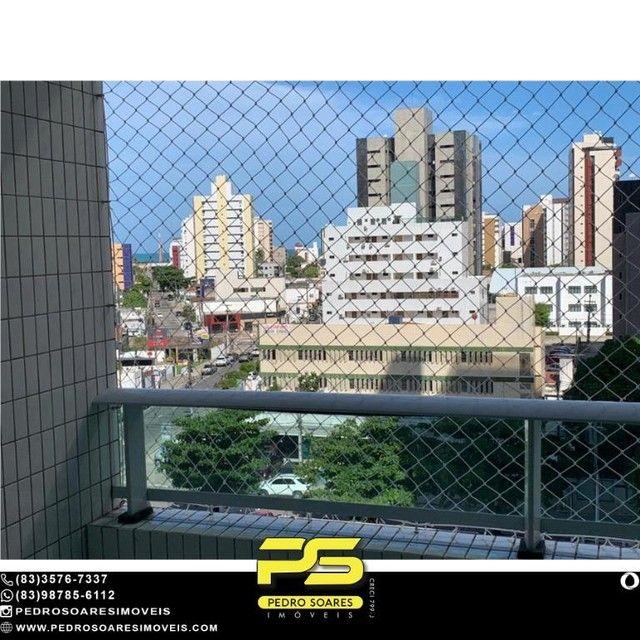 (MOBILIADO) Apartamento com 2 dormitórios à venda, 60 m² por R$ 360.000 - Tambaú - João Pe